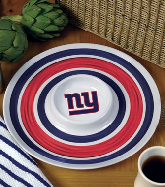 New York Giants Plastic Chip and Dip Plate