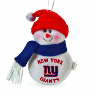 New York Giants Plush Snowman Ornament (Set of 3)