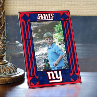 New York Giants Portrait Art Glass Picture Frame