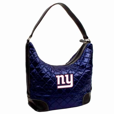 New York Giants Quilted Hobo Purse