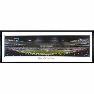 New York Giants Rivalry at the Meadowlands Framed Panoramic Print