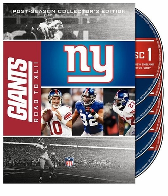 New York Giants Road to Super Bowl XLII DVD