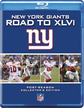 New York Giants ROAD TO XLVI Blu-Ray DVD
