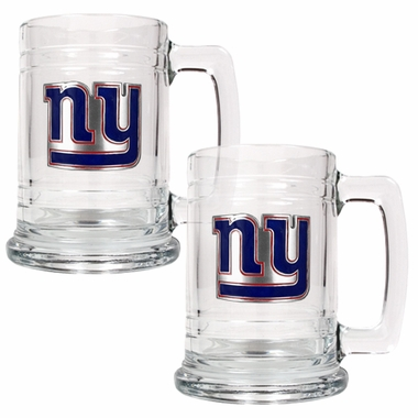 New York Giants Set of 2 15 oz. Tankards