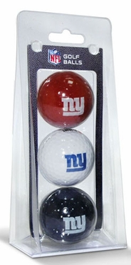 New York Giants Set of 3 Multicolor Golf Balls