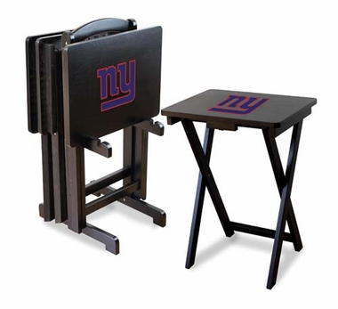 New York Giants Set of 4 Folding TV Trays