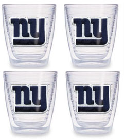 New York Giants Set of FOUR 12 oz. Tervis Tumblers