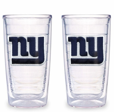 New York Giants Set of TWO 16 oz. Tervis Tumblers
