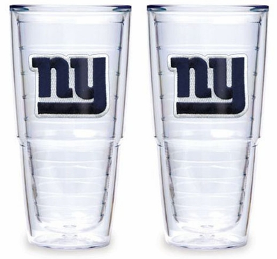 "New York Giants Set of TWO 24 oz. ""Big T"" Tervis Tumblers"