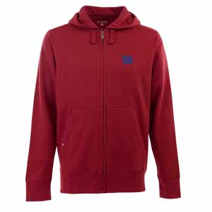 New York Giants Mens Signature Full Zip Hooded Sweatshirt (Color: Red) - Small