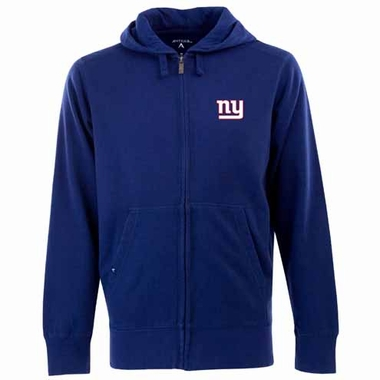 New York Giants Mens Signature Full Zip Hooded Sweatshirt (Team Color: Royal)
