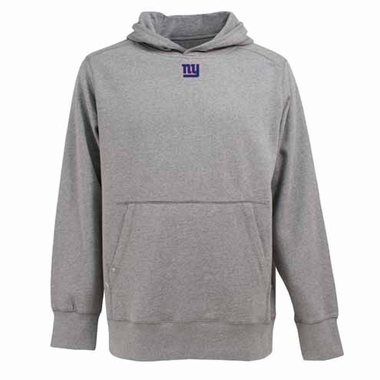 New York Giants Mens Signature Hooded Sweatshirt (Color: Gray)