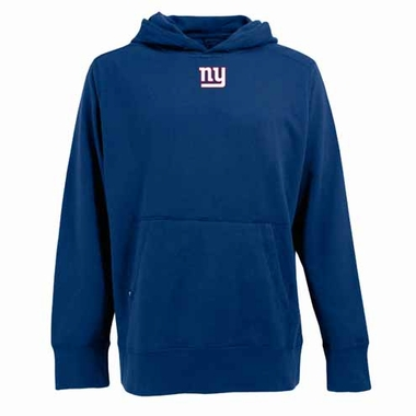 New York Giants Mens Signature Hooded Sweatshirt (Color: Royal)