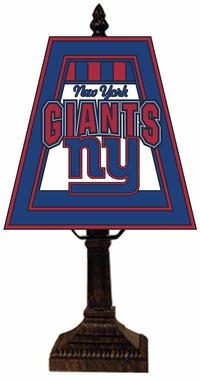 New York Giants Small Art Glass Lamp