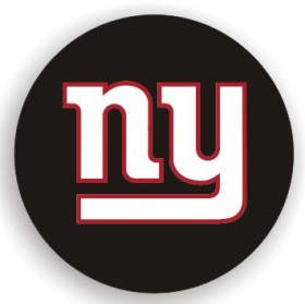 New York Giants Black Tire Cover - Standard Size