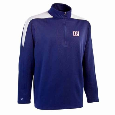 New York Giants Mens Succeed 1/4 Zip Performance Pullover (Team Color: Royal)