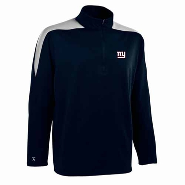 New York Giants Mens Succeed 1/4 Zip Performance Pullover (Color: Smoke)