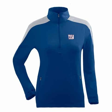 New York Giants Womens Succeed 1/4 Zip Performance Pullover (Team Color: Royal)