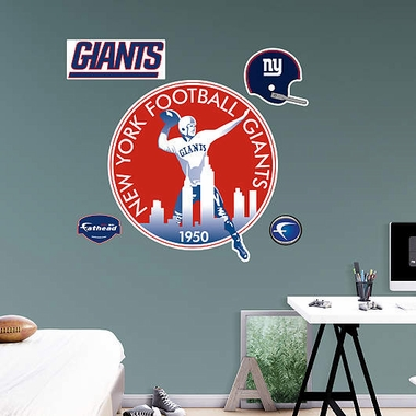 New York Giants Throwback Logo Fathead Wall Graphic