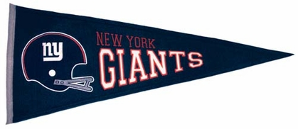 New York Giants Throwback Wool Pennant