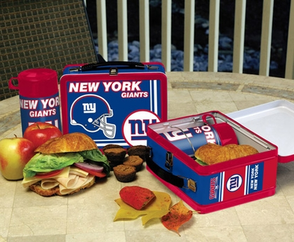 New York Giants Tin Lunch Box