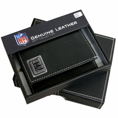 New York Giants Trifold Wallet With Metal Logo