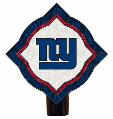 New York Giants Vintage Art Glass Nightlight
