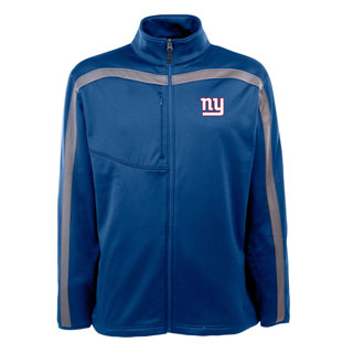New York Giants Mens Viper Full Zip Performance Jacket (Team Color: Royal)