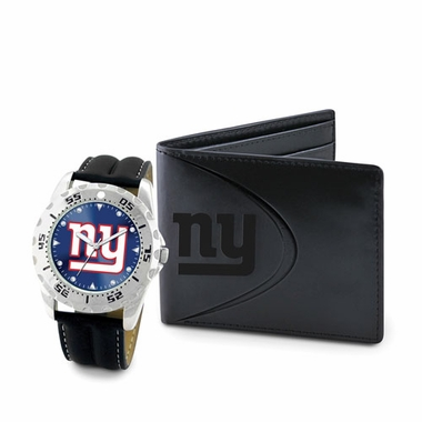 New York Giants Watch and Wallet Gift Set