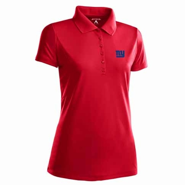 New York Giants Womens Pique Xtra Lite Polo Shirt (Alternate Color: Red)