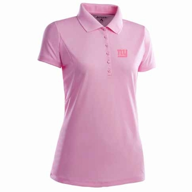 New York Giants Womens Pique Xtra Lite Polo Shirt (Color: Pink)