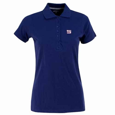 New York Giants Womens Spark Polo (Team Color: Royal)
