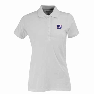 New York Giants Womens Spark Polo (Color: White)
