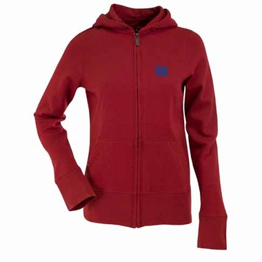 New York Giants Womens Zip Front Hoody Sweatshirt (Color: Red)
