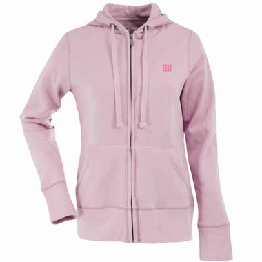 New York Giants Womens Zip Front Hoody Sweatshirt (Color: Pink)