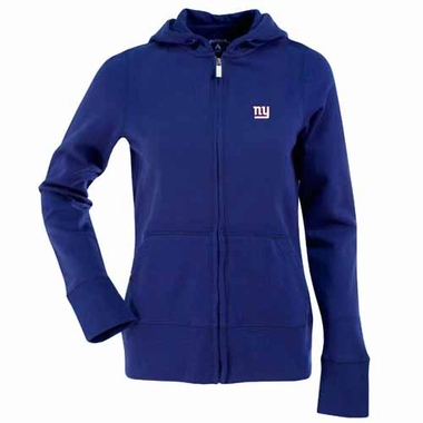 New York Giants Womens Zip Front Hoody Sweatshirt (Team Color: Royal)