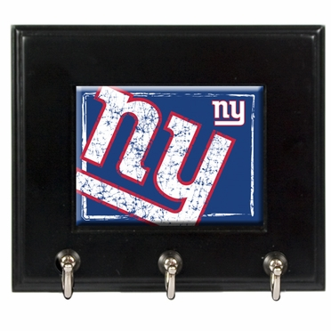 New York Giants Wooden Keyhook Rack