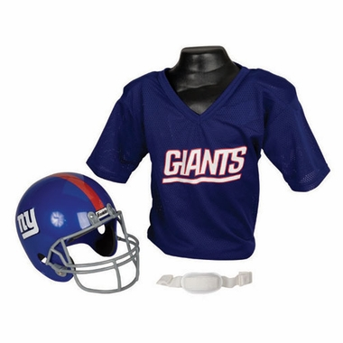 New York Giants Youth Helmet and Jersey Set