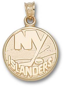 New York Islanders 10K Gold Pendant