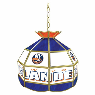 New York Islanders 16 Inch Diameter Stained Glass Pub Light