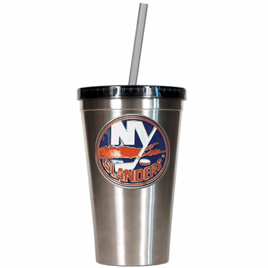 New York Islanders 16oz Stainless Steel Insulated Tumbler with Straw