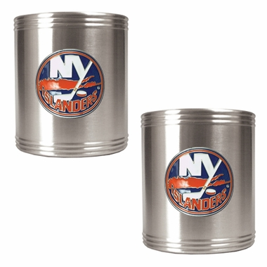 New York Islanders 2 Can Holder Set