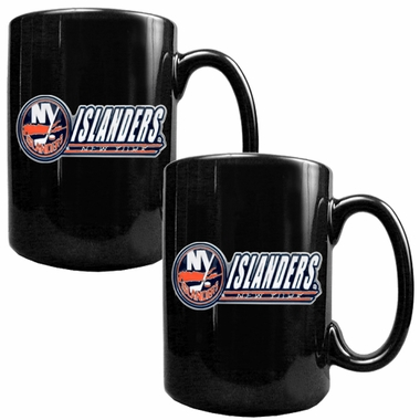 New York Islanders 2 Piece Coffee Mug Set (Wordmark)