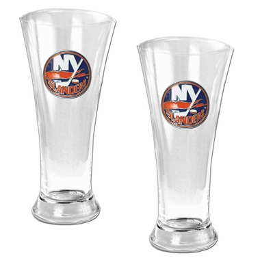 New York Islanders 2 Piece Pilsner Glass Set