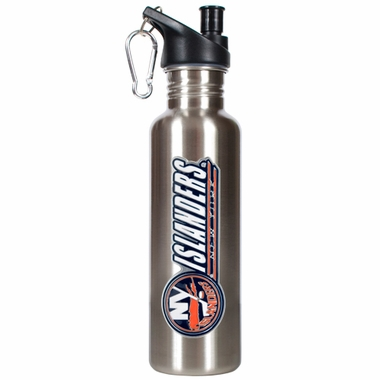 New York Islanders 26oz Stainless Steel Water Bottle (Silver)