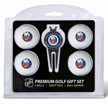 New York Islanders 4 Ball and Tool Gift Set