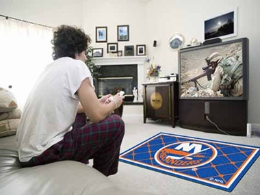 New York Islanders 4 Foot x 6 Foot Rug