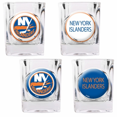 New York Islanders 4 Piece Assorted Shot Glass Set