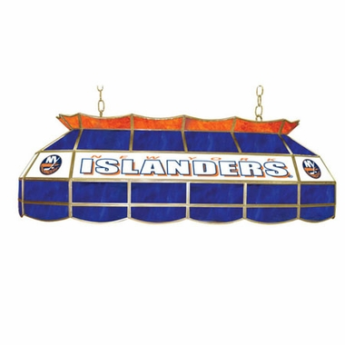 New York Islanders 40 Inch Rectangular Stained Glass Billiard Light