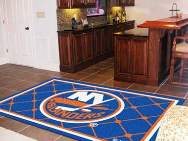 New York Islanders 5 Foot x 8 Foot Rug